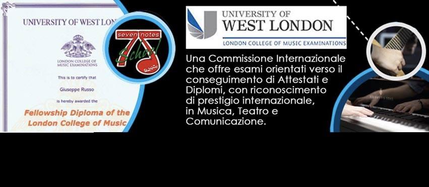 """<a href=""""http://www.sevenotes.it/attestatidiplomi-lcm-rgt-della-university-of-west-london/"""">Attestati/Diplomi LCM – RGT University of West London</a><span>Centro Autorizzato per il conseguimento del certificatodegli Attestati e dei Diplomi LCM – RGT rilasciati dalla University of West London,amministrati dal London College of Music Examinations.</span>"""